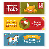 County fair vintage banners Royalty Free Stock Image