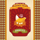 County fair vintage invitation card Royalty Free Stock Photo