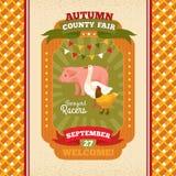 County fair vintage invitation card Stock Photo
