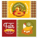 County fair vintage invitation cards Stock Images