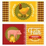 County fair vintage invitation cards. Vector illustration vector illustration