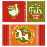 County fair vintage invitation cards Stock Image