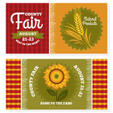 County fair vintage invitation cards Royalty Free Stock Photo
