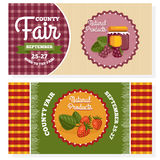 County fair vintage invitation cards Stock Photos