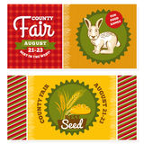 County fair vintage invitation cards. Vector illustration royalty free illustration