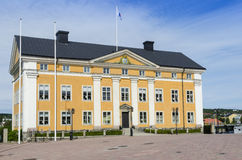 The county governors residence Harnosand. The county governors residence in Harnosand (Swedish: Härnösand). County of Vasternorrland (Swedish: Västernorrland Royalty Free Stock Photo