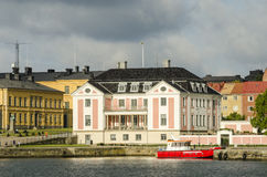 County governors residence Karlskrona. The county governors residence in Karlskrona, Blekinge county, Sweden.Naval Port of Karlskrona is a UNESCO world heritage Royalty Free Stock Photo