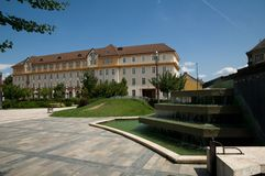 County hall  on City Hall square - in Miskolc Stock Photography