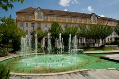 County hall  on City Hall square - in Miskolc Stock Photo