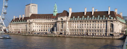 County Hall London. On the River Thames Stock Images