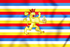 County Palatine of the Rhine Flag, Electoral Palatinate. 3D Illustration Stock Images