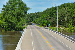 County Road Flooding Stock Photos