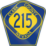 County Route Shield - Clark County - Nevada Royalty Free Stock Photography