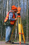 County surveyor with equipment Stock Photography