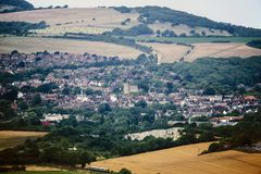 The County Town of Lewes in East Sussex, England. Lewes is the principal administrative town of East Sussex. It has a castle, a council headquarters and many stock photo