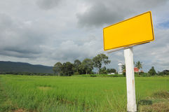 County yellow road sign in Thailand Royalty Free Stock Image