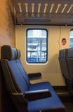 Coupé holandês do stilte do trem do NS Fotografia de Stock Royalty Free