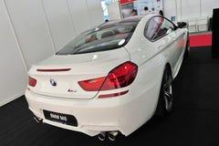 Coupé BMWs M6 Gran auf Anzeige an Singapur-Yacht-Show 2013 Stockfotos