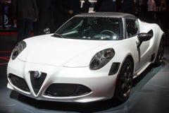 Coupé d'Alfa Romeo 4C Photographie stock libre de droits