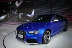 Coupé d'Audi RS5 sur CDMS 2012 Photo libre de droits