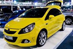 Coupé d'Opel Corsa - partie antérieure - M/H Photos stock