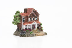Coupé d'une maison miniature classique Images stock