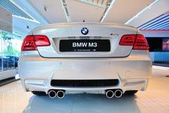Coupé de BMW M3 sur l'affichage Photos libres de droits