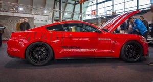 Coupé de voiture deux-volumes de Ford Mustang GT de voiture de poney (sixième génération), 2015 Images libres de droits