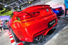 Coupé di BMW M6 su esposizione al mondo 2014 di BMW Fotografia Stock Libera da Diritti