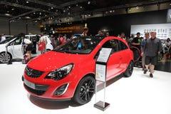 Coupé di Opel Corsa agli AMI Lipsia, Germania Immagine Stock