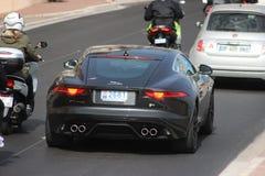 Coupé F tipo R di Jaguar a Monte Carlo, Monaco fotografie stock