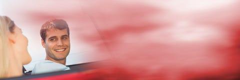 Coupé im Auto mit Übergangseffekt Stockfotografie