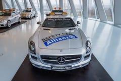 Coupé officiel de Mercedes-Benz SLS AMG de voiture de sécurité F1, 2010 Images libres de droits