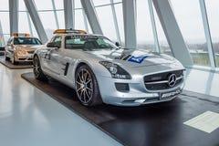 Coupé officiel de Mercedes-Benz SLS AMG de voiture de sécurité F1, 2010 Photographie stock libre de droits
