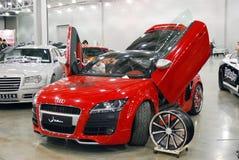 Coupé rosso di Audi TT 8J nel ` dell'Expo del croco del `, 2012 Fotografia Stock Libera da Diritti