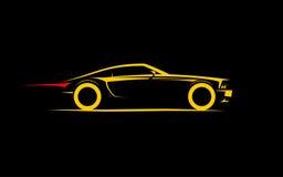 Coupé stylisé classique de voiture Photographie stock libre de droits
