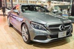 Coupé van Mercedes-Benz C250e toonde binnen in Thailand 37ste Bangkok Stock Foto