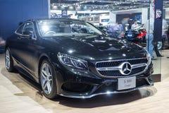 Coupé van Mercedes Benz S500 toonde in Thailand 37ste Bangkok Int. Stock Foto