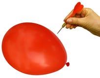 Coup ! Éclats de ballon. Images stock