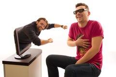 Coup barbu dans 3D Photo libre de droits