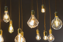 Coup d'ampoule de LED de plafond image stock