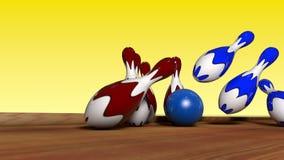 Coup dans le bowling Image libre de droits