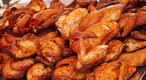 Coup de BBQ de Suncoast - ailes de BBQ de nourriture d'événement photographie stock