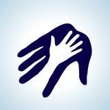 Coup de main. Images libres de droits