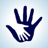 Coup de main. Photos libres de droits