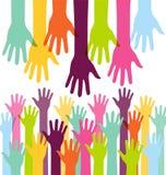 Coup de main coloré créatif Image libre de droits