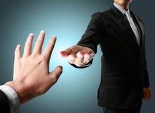 Coup de main dans les affaires Image libre de droits