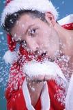 Coup de neige de Santa Photos libres de droits
