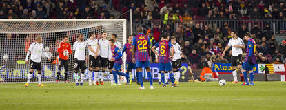 Coup-de-pied gratuit du football Photographie stock libre de droits