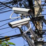 Coup de télévision en circuit fermé pour le suitation de contrôle Images stock